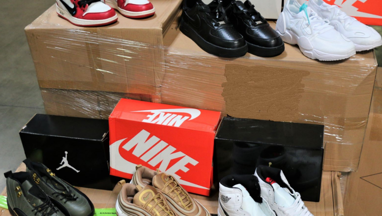 Over $2 million worth of fake Nike shoes seized at Los