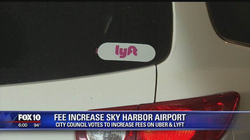 City Council approves fee increase for rideshare services at Sky Harbor
