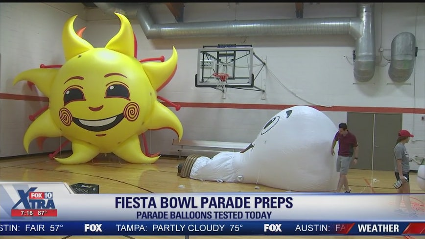 Fiesta Bowl Parade balloons tested months in advance