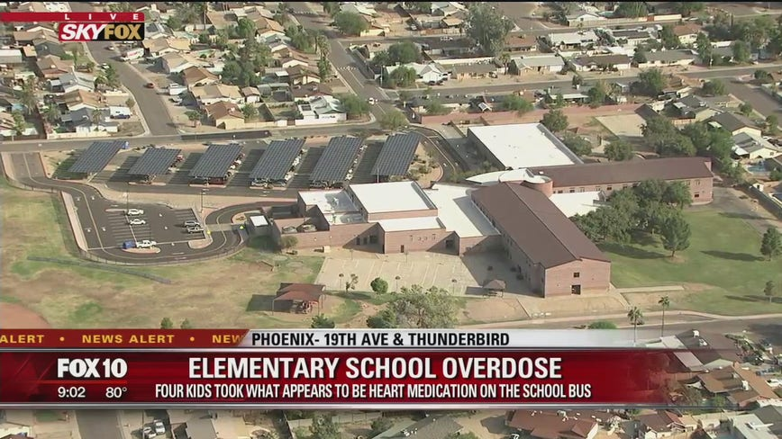 4 elementary students evaluated after taking heart pills on school bus