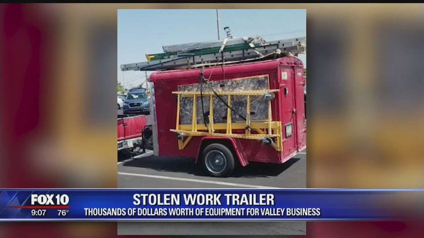 Valley business owner asking for the public's help with locating his stolen trailer