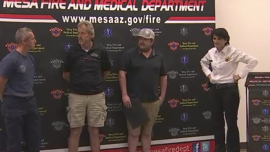 Mesa Fire Department honors man who saved woman during bee attack
