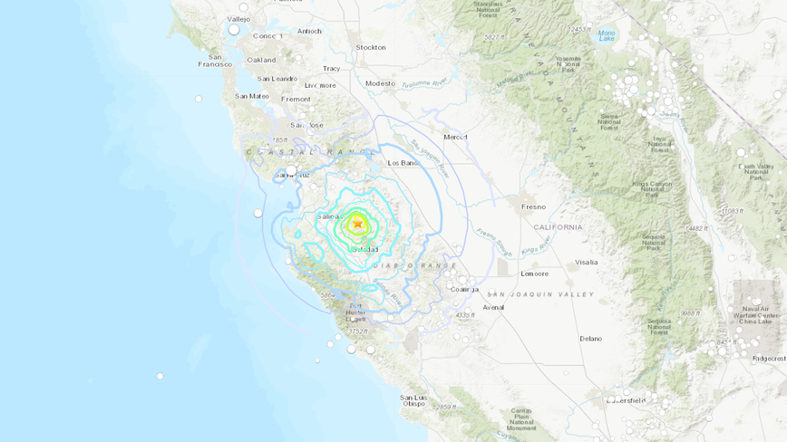 Magnitude 4.8 earthquake strikes near Tres Pinos
