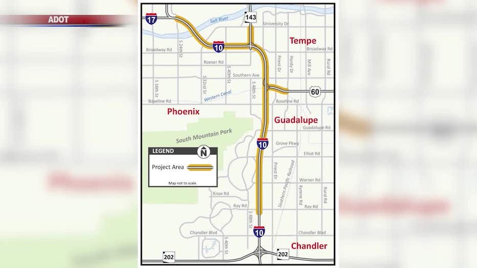 ADOT holding public meeting in Tempe on its future plans for ... on interstate 421 map, i-10 map, interstate 4 map, interstate 25 map, lincoln way map, interstate 8 map, interstate 81 map, texas map, interstate 75 map, interstate 5 map, interstate 27 map, interstate 20 map, interstate i-10, interstate 70 map, i-70 colorado road map, interstate 80 map, highway 82 map, interstate 422 map,