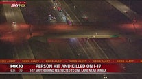 DPS: Pedestrian struck, killed on I-17 SB at Jomax