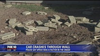 Car crashed through wall near 16th Street and Loop 101