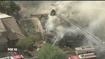 Firefighters battle house fire in Chandler