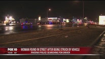 Woman found in Phoenix street after being struck by vehicle