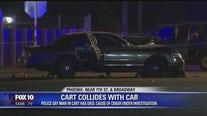 PD: 1 dead after car, motorized wheelchair collide