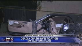 Glendale Police: Speed and impairment factors in fatal single-vehicle crash