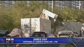 Shred-a-thon happening at Comerica in downtown Phoenix