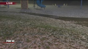 What a day! Hail turned some Valley neighborhoods into Winter Wonderland