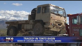 GCSO: Boy, girl dead after vehicle was washed down Tonto Creek; 1 child still missing