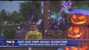 Clash over holiday decorations at Tempe home