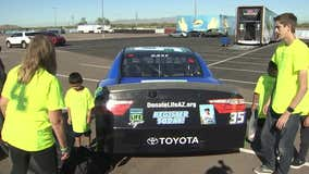 Valley organ donor honored by NASCAR driver