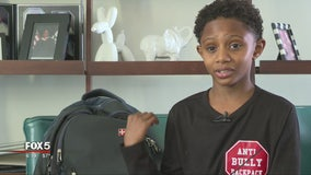 11-year-old invents backpack to stop bullying in schools