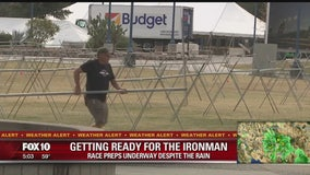 Tempe Ironman preparations underway despite rain