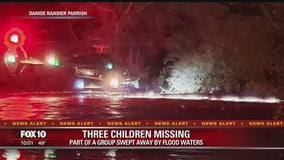 Gila County Sheriff's Office: 3 children missing after motor home was washed down Tonto Creek