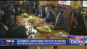 Former New York City Mayor Michael Bloomberg visits Arizona days after launching presidential run