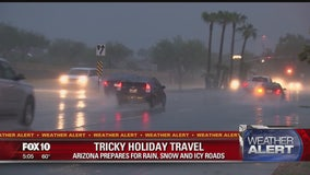 Arizonans prepare for travel woes amidst forecast of rain and snow during Thanksgiving weekend