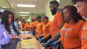 James Harden, mother, and foundation serve Thanksgiving dinner to 250 in need
