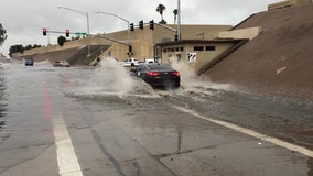 Storms cause flooding at North Phoenix I-17 underpass