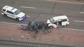 Glendale police investigate fatal head-on crash on Grand Avenue