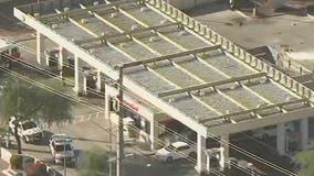 3 injured in fire near Glendale gas station