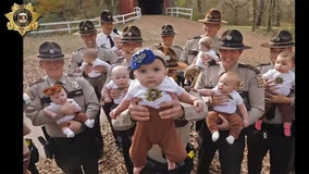 Missouri sheriff's office welcomes 17 babies of deputies in same year