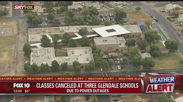 3 Glendale schools closed due to power outages caused by weather