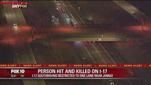 DPS: Pedestrian struck, killed on I-17 SB at Jomax