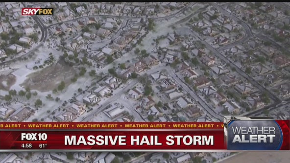 Latest storm blanketed some Valley roads, neighborhoods with hail