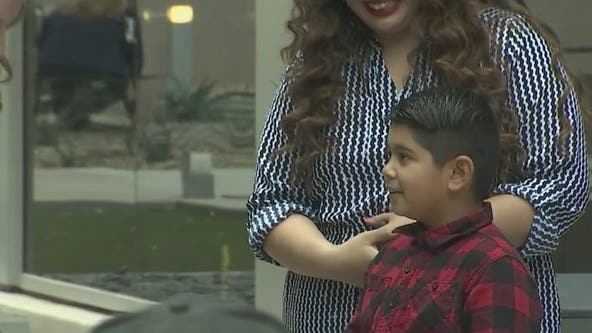 Valley boy hailed a 'hero' after quick thinking helped save his mom's life