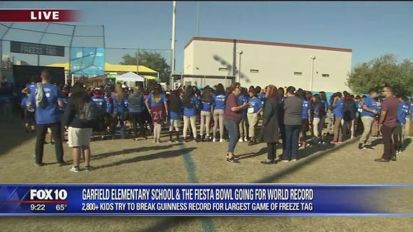 2,800 Valley kids try to break world record for largest game of 'Freeze Tag'