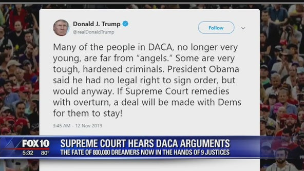 The fate of 800,000 Dreamers now in the hands of 9 justices