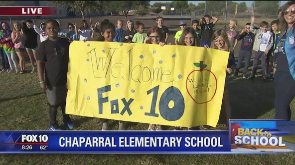 Cory's Corner: Back to school at Chaparral Elementary School