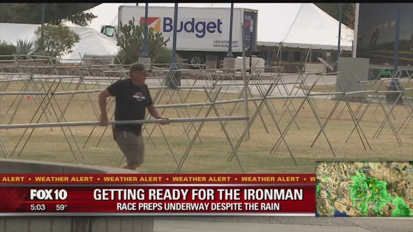 Tempe Ironman preparations underway despite rain