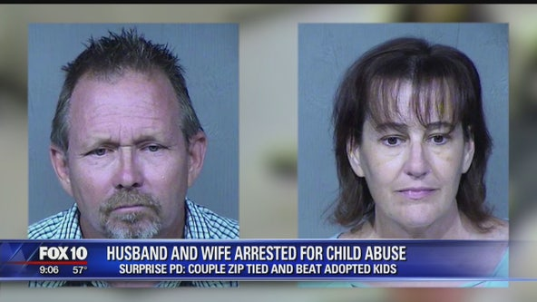 Husband, wife accused of abusing their adopted children