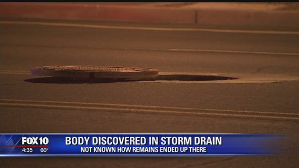 Body discovered in north Phoenix storm drain