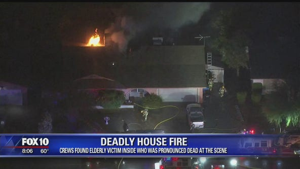 1 dead in west Phoenix 1st-alarm house fire