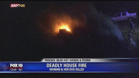 Woman, dog killed in west Phoenix 1st-alarm house fire