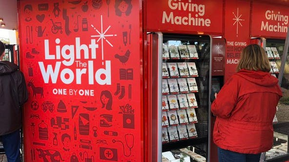 #LightTheWorld 'Giving Machines' now open in downtown Gilbert