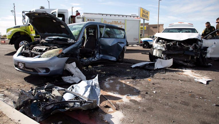 An smuggling suspect collided with a civilian vehicle in the Yuma Foothills