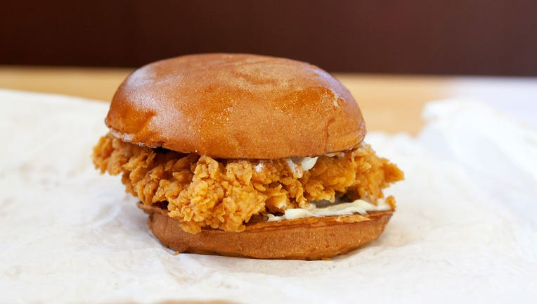 The original Popeyes Chicken Sandwich is shown in a file photo. (Nick Kindelsperger/Chicago Tribune/Tribune News Service via Getty Images)