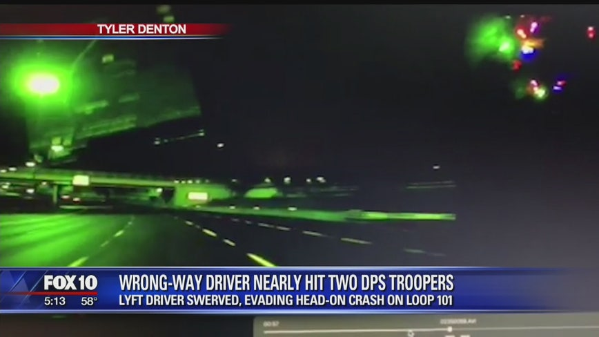 DPS: Wrong-way driver arrested after traveling 12 miles along the Loop 101