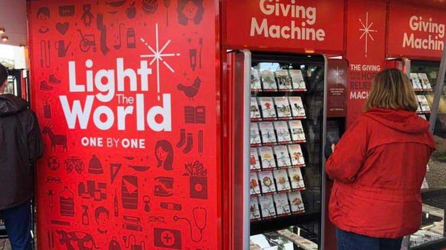 #LightTheWorld 'Giving Machines' now open in downtown Gilbert