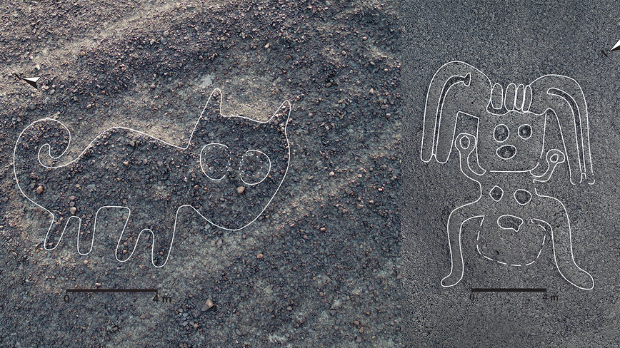 Researchers from Japan use AI to discover 143 ancient drawings in Peru that can be seen from space