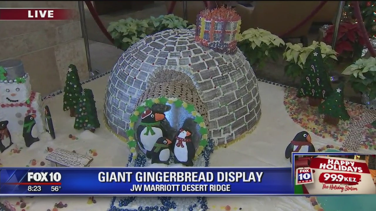 Cory's Corner: Giant gingerbread village on display at JW ...