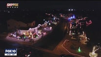 Drone Zone: Everyone in this Mesa cul-de-sac gets into the Christmas spirit with lots and lots of lights