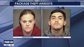 Mesa police arrest 2 people linked to a string of package thefts